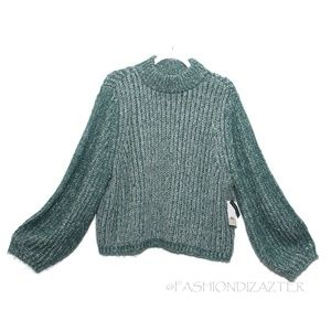 NWT BP Marled Mock Turtleneck chunky knit sweater